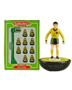 AEK ATHENS. Retro Subbuteo Team. Modelled on the LW Figure & Bases From the 1980's.