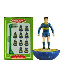 BOCA JUNIORS. Retro Subbuteo Team. Modelled on the LW Figure & Bases From the 1980's.