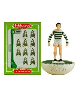 CELTIC 1ST. Retro Subbuteo Team. Modelled on the LW Figure & Bases From the 1980's.