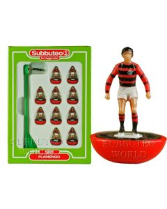 FLAMENGO. Retro Subbuteo Team. Modelled on the LW Figure & Bases From the 1980's.