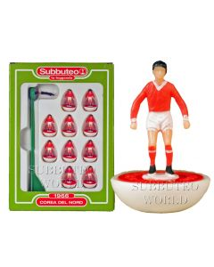 NORTH KOREA. Retro Subbuteo Team. Modelled on the LW Figure & Bases From the 1980's.