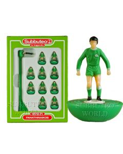 PANATHINAIKOS. Retro Subbuteo Team. Modelled on the LW Figure & Bases From the 1980's.