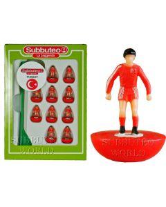 TURKEY. Ltd Edition Retro Subbuteo Team On Round LW Bases & Player Number Transfers.
