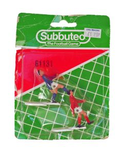 61131. TWO ORIGINAL EARLY 80's SUBBUTEO CORNER KICKERS. Includes Opened Blister Pack..