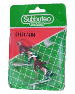 61131. REF 484 ASTON VILLA. 2 Very Rare Original Early 80's Hand Painted Corner Kickers. Unopened Numbered Blister Pack.