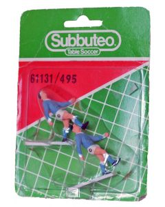 61131. REF 495 NAPOLI. 2 Very Rare Original Early 80's Hand Painted Corner Kickers. Unopened Numbered Blister Pack.