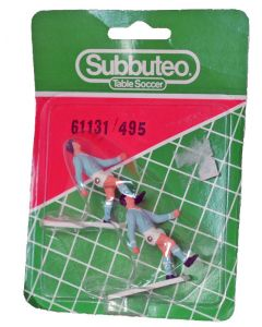 61131. REF 495 NAPOLI. MALMO. 2 Very Rare Original Early 80's Hand Painted Corner Kickers. Unopened Numbered Blister Pack.