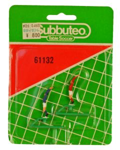 61132. TWO ORIGINAL EARLY 80's SUBBUTEO THROWING FIGURES. Unopened Blister Pack. From Japan With Original Japanese Price Sticker.