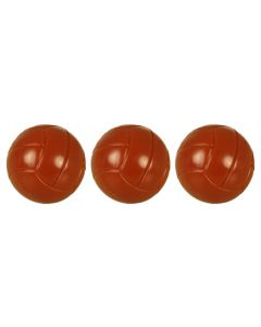 61145 THREE SMALL 18mm BROWN BALLS. Pack of 3.