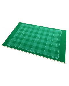 001. THE PEGASUS RUBBER BACKED FULL SIZE CHEQUERED CUT ASTROTURF MOUNTED ONTO 9mm THICK MDF BOARD.