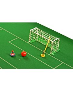 61207. TWO NEW EUROPEAN PLASTIC GOALS WITH WHITE NETTING.