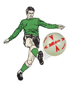 61210. ONE 1990's MITRE-DELTA SUBBUTEO BALL. RED DESIGN.