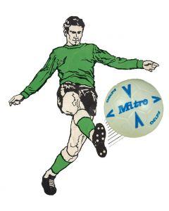 61210. ONE 1990's MITRE-DELTA SUBBUTEO BALL. BLUE DESIGN.