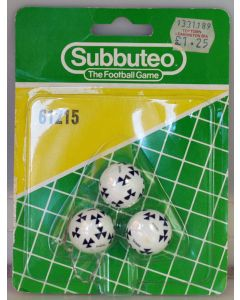 61215. DIADORA SAMBA 22mm SUBBUTEO BALLS. Original Early 80's Set In Original Blister Pack. Has Been Opened.
