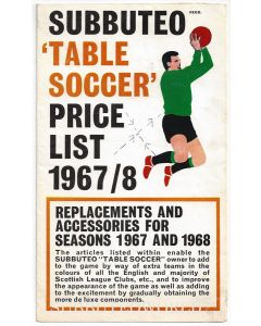 1967-68 SUBBUTEO CATALOGUE.