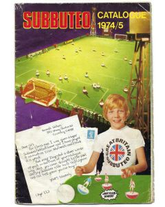 1974-75 SUBBUTEO CATALOGUE. With Brown 1974 Price List. Good Condition.