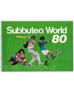 1980 SUBBUTEO CATALOGUE. Includes Price List. Very Good Condition.