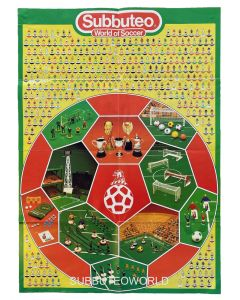 1984 SUBBUTEO POSTER. Team Numbers To 567. Very Good Condition.