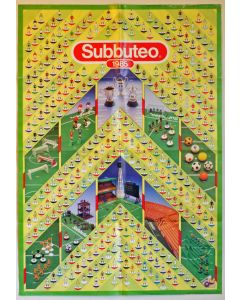 1985 SUBBUTEO POSTER TEAM CHART. Large Poster 84cms x 59cms.