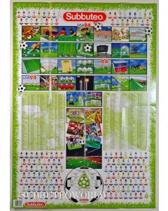 1994 SUBBUTEO POSTER TEAM CHART. Large Poster Measures 85cms x 60cms. Team Numbers To 791.