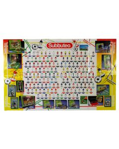 1996 SUBBUTEO POSTER TEAM CHART. Team Numbers To 830.