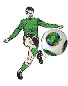 Z129. 22mm 2013 CONFEDERATIONS CUP MATCH BALL. HAND DESIGNED. ONE BALL & INCLUDES DISPLAY DOME.