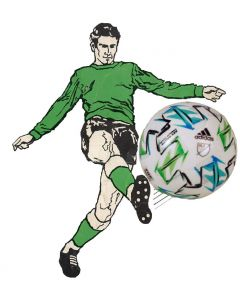 Z169. 22mm 2020 MLS MATCH BALL. HAND DESIGNED. ONE BALL & INCLUDES DISPLAY DOME.