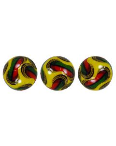 PEGASUS 22mm 2008 YELLOW, RED & GREEN TOURNAMENT BALLS. PACK OF 3.