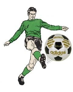 Z004. 22mm MEXICO 1970 WORLD CUP BALL. DESIGNED BY HAND. ONE BALL & INCLUDES DISPLAY DOME.
