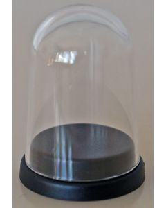 000001. PLASTIC DISPLAY DOME WITH BLACK BASE. Perfect to Display 22mm Subbuteo Balls & Single Figures.