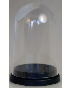 000002. LARGER PLASTIC DISPLAY DOME WITH BLACK BASE. Perfect to Display The 45mm Stand Alone Replica Trophies.