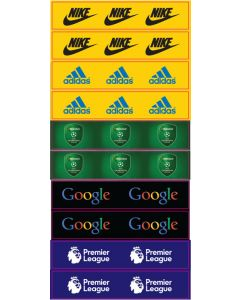 SET E. 10 HIGH QUALITY VINYL GRANDSTAND LABELS. Designed To Be Used With Zeugo & Subbuteo Grandstands.