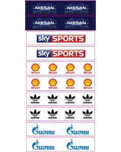 SET D. 10 HIGH QUALITY VINYL GRANDSTAND LABELS. Designed To Be Used With Zeugo & Subbuteo Grandstands.