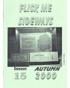 2000 ISSUE 15. FLICK ME SIDEWAYS A4 SIZE SUBBUTEO COLLECTORS CLUB NEWSLETTER.