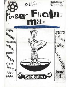 1990's FINGER FLICKING MAD. Original 1990's Subbuteo Collectors Club Newsletter. Issue 11.