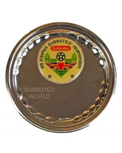 001. 5TH EUROPEAN SUBBUTEO CHAMPIONSHIPS SILVER PLATED PLATE. LONDON 1996.