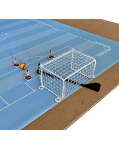 ST2. PEGASUS 7-A-SIDE METAL GOALS. With White Frames & White Netting.
