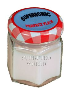 A1. SUPERSONIC PERFECT FLICK 30ML PINK BASE POLISH AND POLISHING CLOTH.