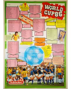 1986 WORLD CUP QUALIFYING POSTER. Made By Subbuteo October 1984.