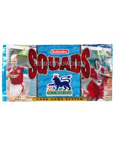 1996 SUBBUTEO SQUADS. Unopened & Sealed Foil Pack of 8 FA Premier League Cards. Ref 63901102