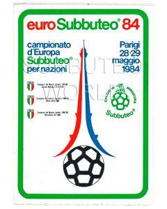 1984 EUROPEAN SUBBUTEO CHAMPIONSHIPS STICKER. Mint condition.