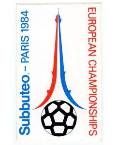 1984 EUROPEAN SUBBUTEO CHAMPIONSHIPS VINYL STICKER. Mint Condition.