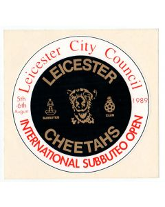 1989 LEICESTER CHEETAHS SUBBUTEO OPEN STICKER. RED LETTERING. Mint Condition.