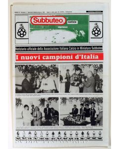 1992 ITALIAN 16 PAGE SUBBUTEO NEWSPAPER.