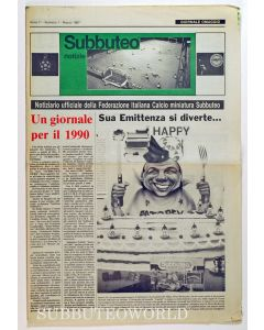 1987 ITALIAN 8 PAGE SUBBUTEO NEWSPAPER.