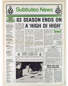 SUBBUTEO NEWSPAPER. 1983