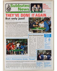 1986 SUBBUTEO NEWS, WORLD CUP EDITION. ISSUE 21.