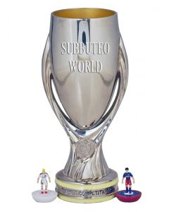 1026. THE UEFA SUPER CUP. 150mm High With Display Box. Official Licensed Replica Trophy.