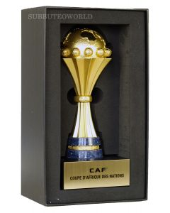 1028. THE CAF -AFRICA CUP OF NATIONS TROPHY. 150mm High With Display Box. Official Licensed Miniature Replica Trophy.