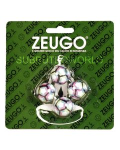 10131. ZEUGO 22mm 2017 PREMIER LEAGUE BALLS. Blister Pack Of 4 Balls.